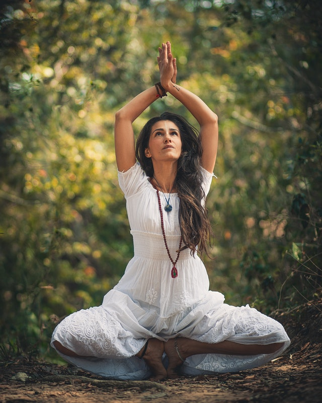 beautiful lady in Yoga pose